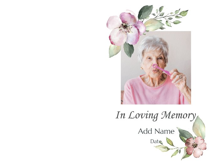In Loving Memory Flowers Card