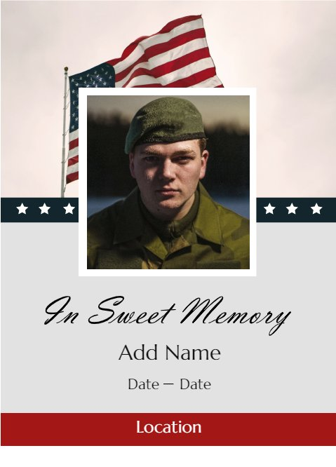 In Sweet Memory Military Card
