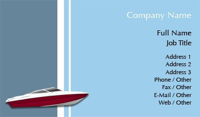 business card templates boat
