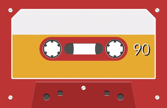 Red Cassette Vintage Business Card Back thumbnail image