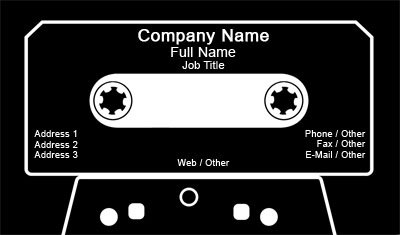 Business card templates dj cassette tape reheart Choice Image