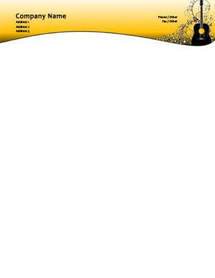 85 x 11 letterhead templates music music spiritdancerdesigns Gallery