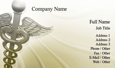 business card templates healthcare