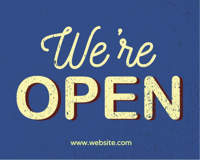 We're open vintage style