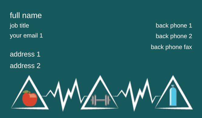 Business card templates entertainment fitness heart monitor colourmoves