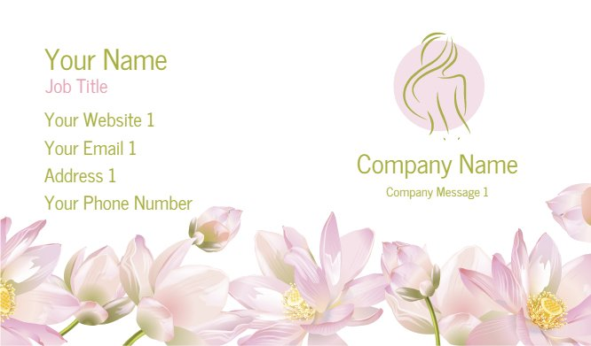 Business Card Templates Massage