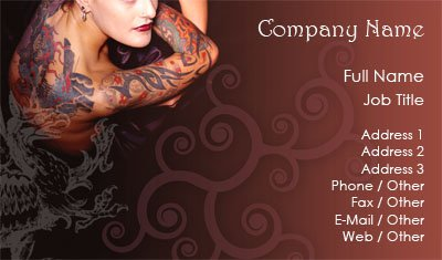 Business card templates tattoo red body art wajeb Gallery