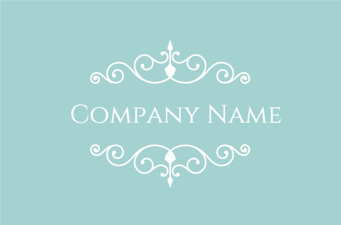 Blue nails company card