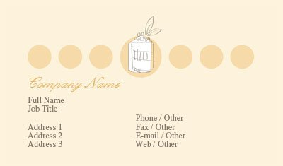 Business card templates bakery tan and orange bakery reheart Image collections