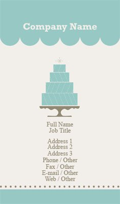 Business card templates bakery teal cake bakery reheart Gallery
