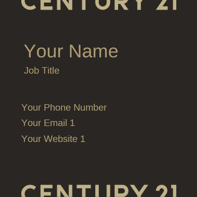 Century 21 Business Card square Back thumbnail image
