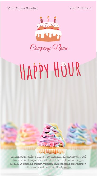 Happy Hour Cake Poster