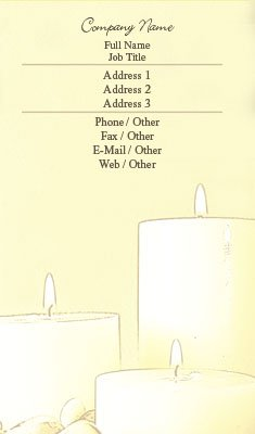 Business card templates event planning sketch candles wajeb Image collections