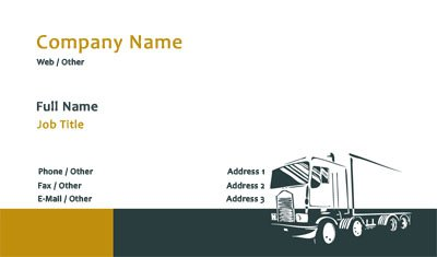 Business card templates trucking black and gold trucking reheart Gallery