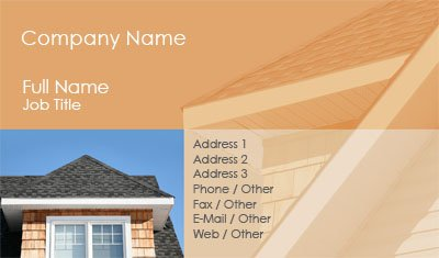 orange roofing - Roofing Business Cards