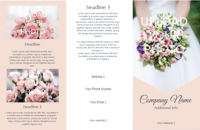 Wedding Brochure Peach
