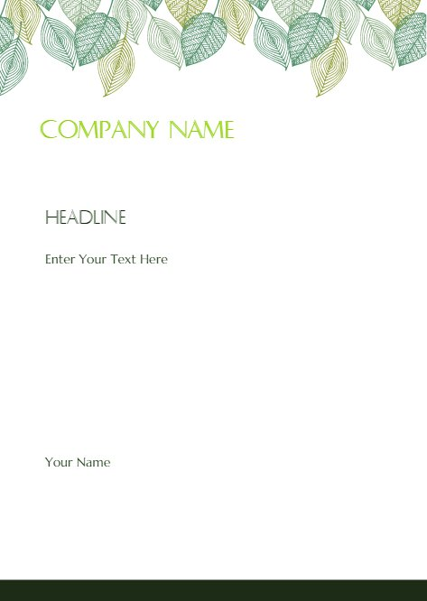 Leaves Gardening Letterhead