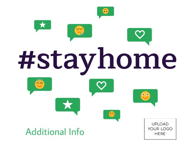Hashtag Stay Home Postcard 4.25x5.5