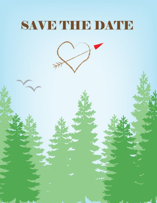 Save the Date Forest