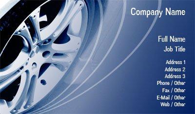 Business card templates tires blue car tire colourmoves