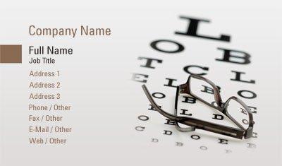 Eye Chart Business Card Template