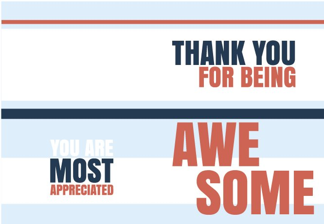You are awesome blue stripes