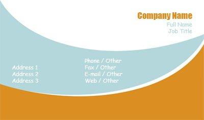 Business card templates education retro blue and orange colourmoves