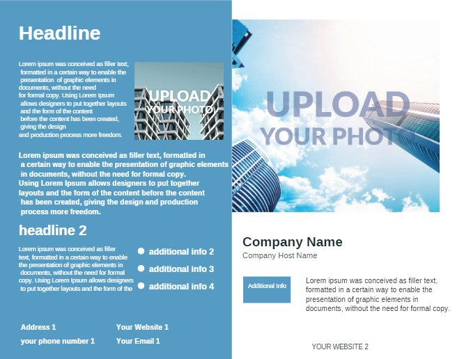 Blue Construction Brochure