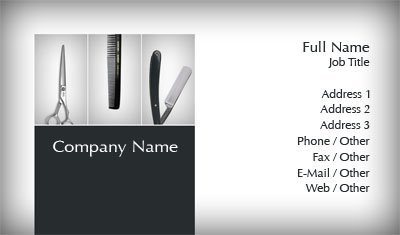 Business Card Templates Barber - Barber business card template