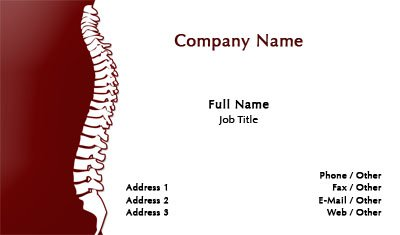 Business card templates chiropractor red and white chiropractor colourmoves