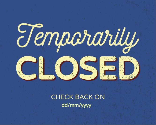 Temporarily closed blue