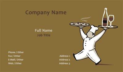 Business card templates catering pizzeria colourmoves