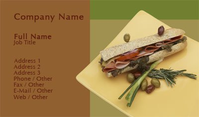 Business card templates catering fancy food flashek Gallery
