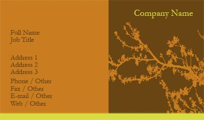 Business card templates tree orange tree landscaping colourmoves