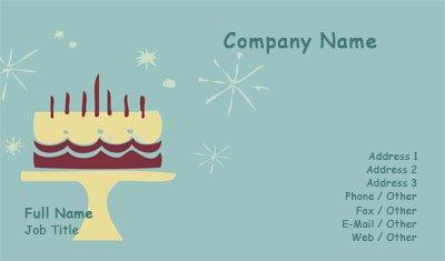 Business card templates birthday cake illustration reheart Choice Image