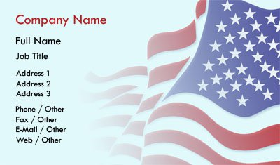 Free Patriotic Business Card Templates Patriotic Business Card