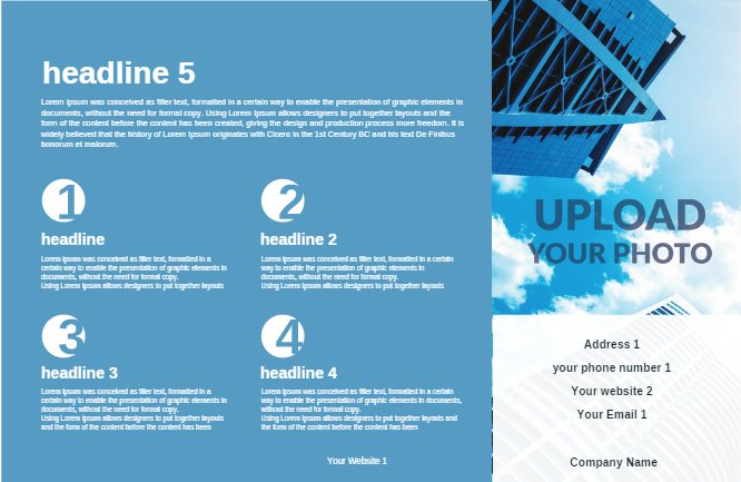 Blue Construction Brochure Back thumbnail image
