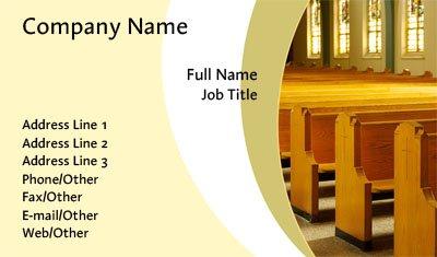 Worship Business Card Template