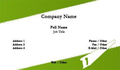 Business card templates handyman hand saw colourmoves