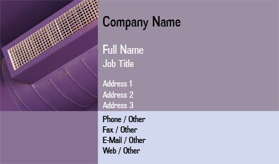 Business card templates hvac blue and purple hvac wajeb
