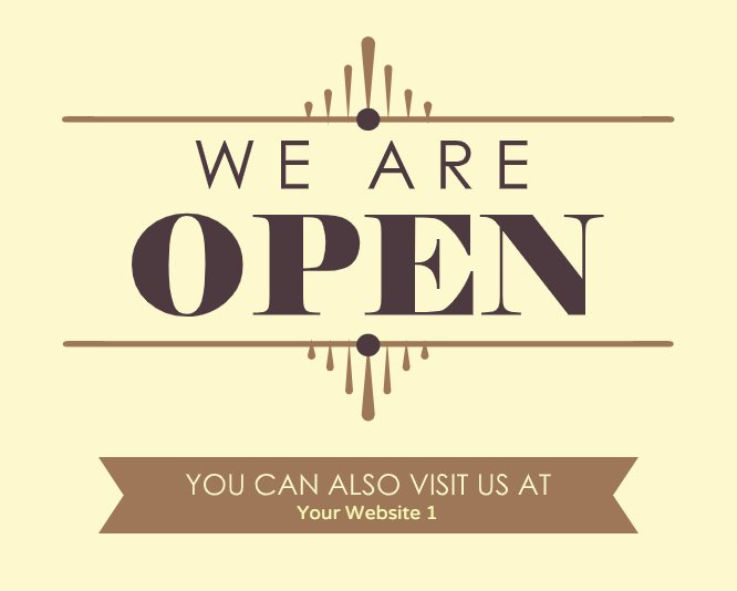 We are open ardeco