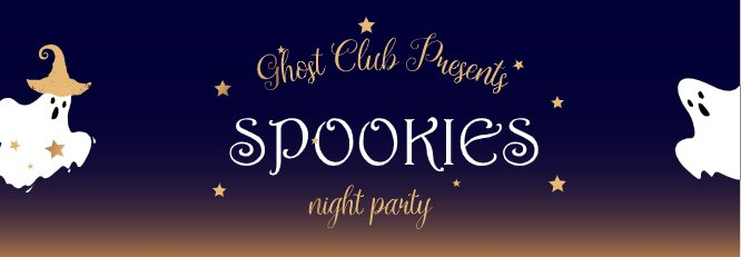 Ghost Club Spookies Gradient Bookmark