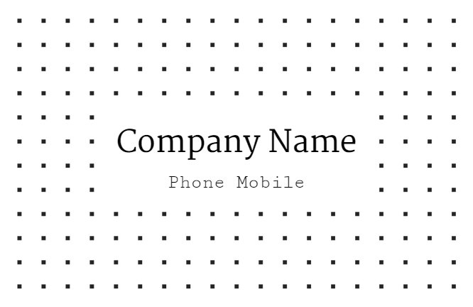 Grey Dots Minimalism Business Card Back thumbnail image