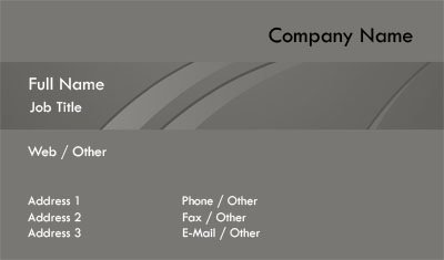 Business card templates professional slate and charcoal business card template pronofoot35fo Choice Image