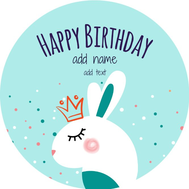 Rabbit Birthday Cookie