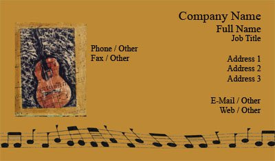 business card templates music