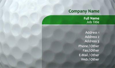 Business card templates golf golf ball colourmoves