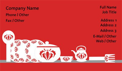 Business card templates valentines day red and white kitchenware colourmoves