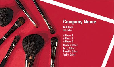 Business card templates makeup cosmetics colourmoves