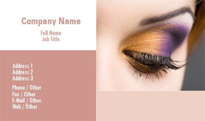Business card templates makeup make up artist wajeb Images